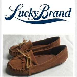 Lucky Brand suede fringed driving moccasins. 8